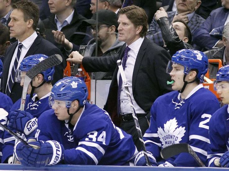 Babcock, McLellan, Tortorella named Jack Adams finalists  -  April 27, 2017:        Toronto Maple Leafs head coach Mike Babcock was named one of three finalists for the Jack Adams award, which goes to the coach of the year.