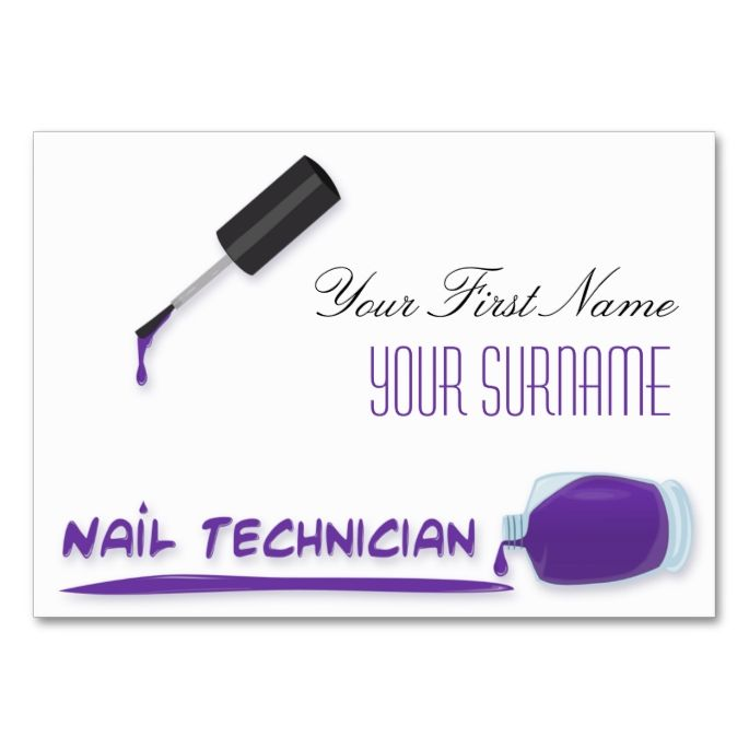 Nail Technician types of papers for school