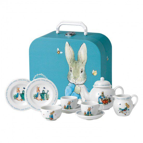 Peter Rabbit Children's Tea set - A childhood favourite, this beloved collection is perfect for children and the young at heart alike. For a New Baby Gift, a First Birthday, a Christening Gift that is perfect for Baby Girls & Baby Boys and a lovely Children's Birthday Gift for any age