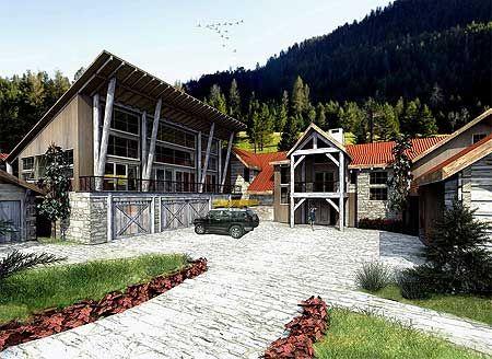 Architectural Designs   Home Plan XXVI New Western Design   Stunning