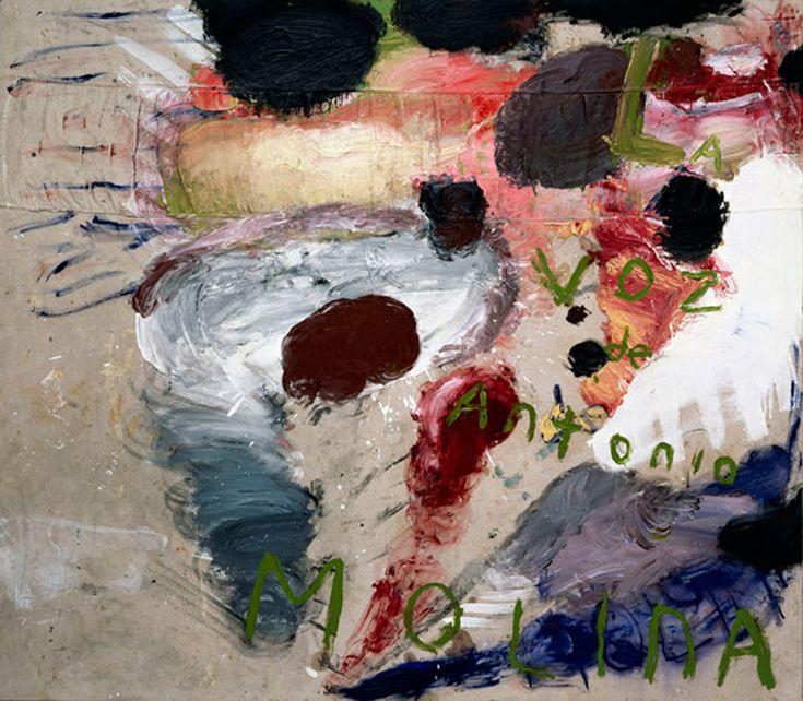 Julian Schnabel - LA VOZ DE ANTONIO MOLINA (GREEN PAINTING) OIL ON CANVAS, 82 2/3 X 94 1/2, 1992