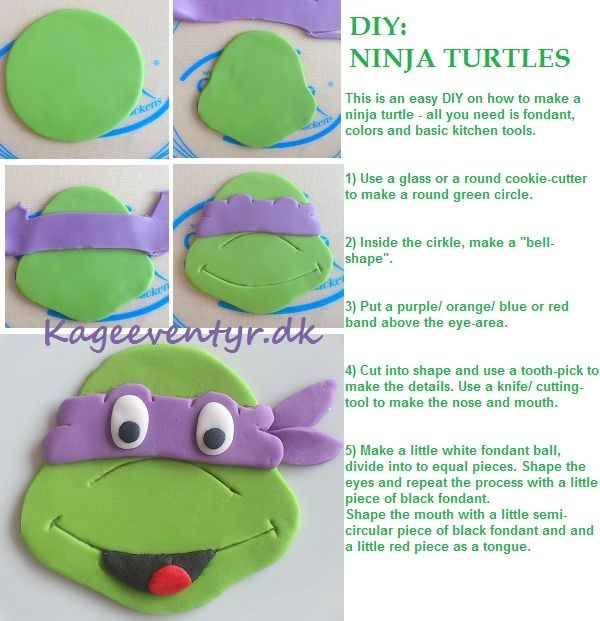DIY Ninja Turtles - This is an easy way to make ninja turtle decorations for cupcakes and cakes. by Williams1967