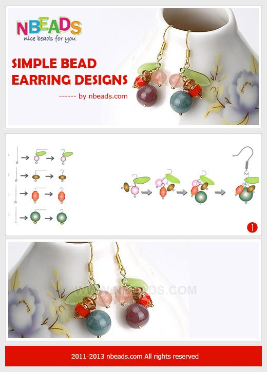 Simple bead earring designs-fashion time to you – Nbeads