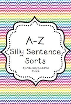 A-Z Silly Sentence Sorts
