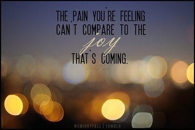 Joy is coming...