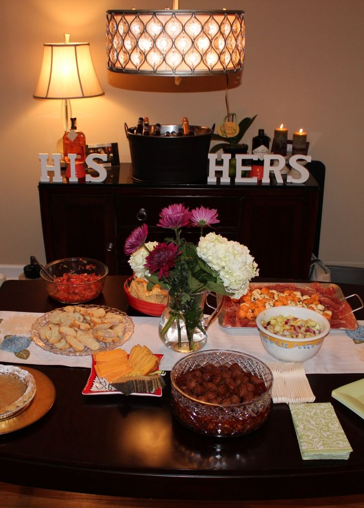 """Make a """"His & Hers"""" bar at a bridal shower or engagement party filled with his fav and her favorite drink choices"""