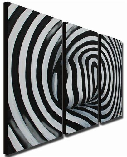 """""""BLACK &AND WHITE ABSTRACT SPIRAL PUSH"""""""