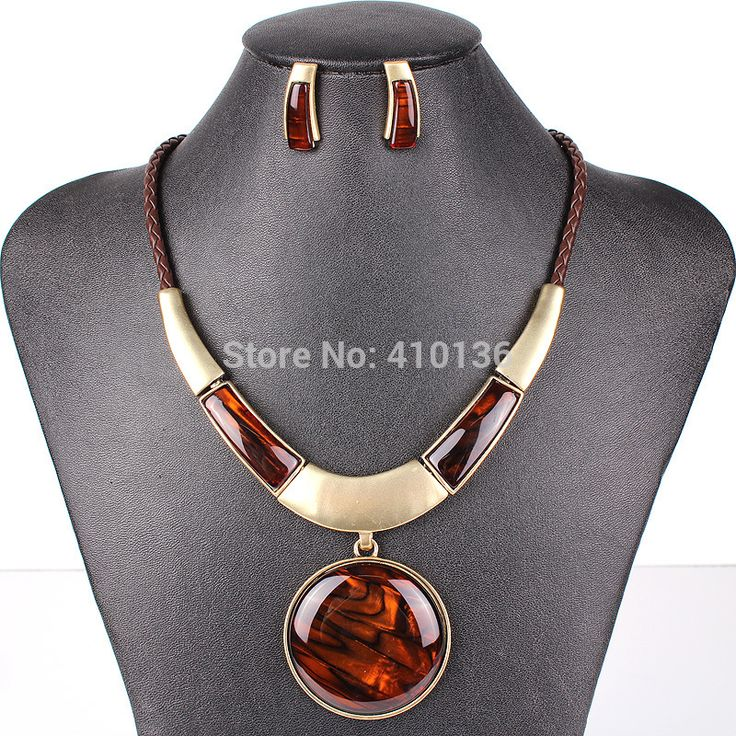 MS17072 Fashion Brand Jewelry Sets Round Pendant 5 Colors Faux Leather Rope High Quality Wholesale Price Party Gifts