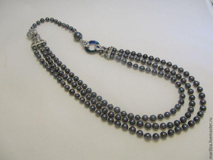 Necklace Black pearl (Majorca pearl)