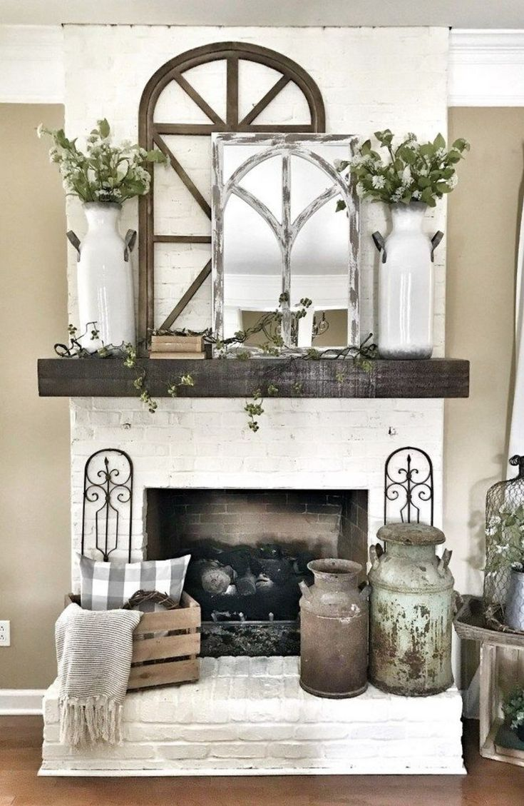 farmhouse fireplace screen ideas