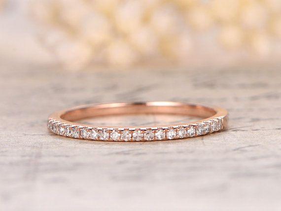 14 K Or Rose demi-jonc Eternity Ring bague de par kilarjewelry