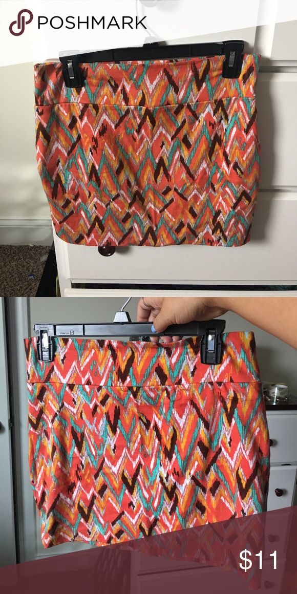 Never worn multi-colored tribal print skirt! Perfect for work or dinner! Francesca's Collections Skirts Mini