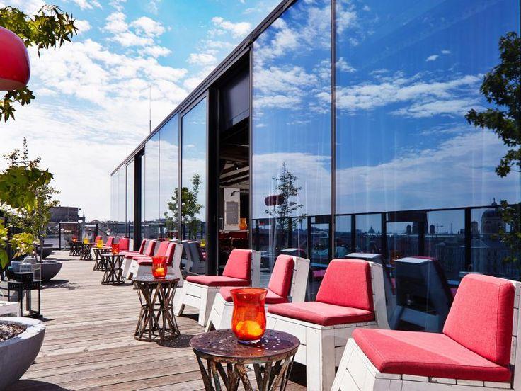 der Dachboden mit großer Terrasse im 25hours Hotel Wien - Beim Museumquartier