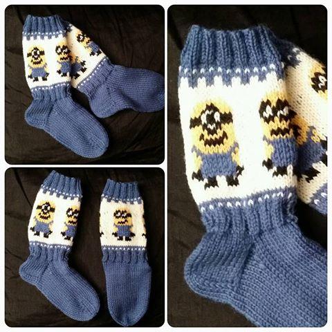 #minions #sokker #bestilling #strikktilbarn #strikking #strikkesida #håndarbeid #knitting #knittingroom #knittingforkids #handmade #madebyme