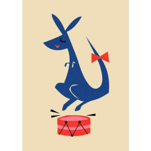 Jumping kangaroo illustration by Darling Clementine
