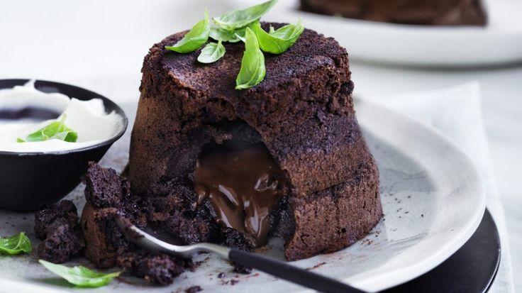 Adam Liaw's gooey chocolate puddings with ... basil