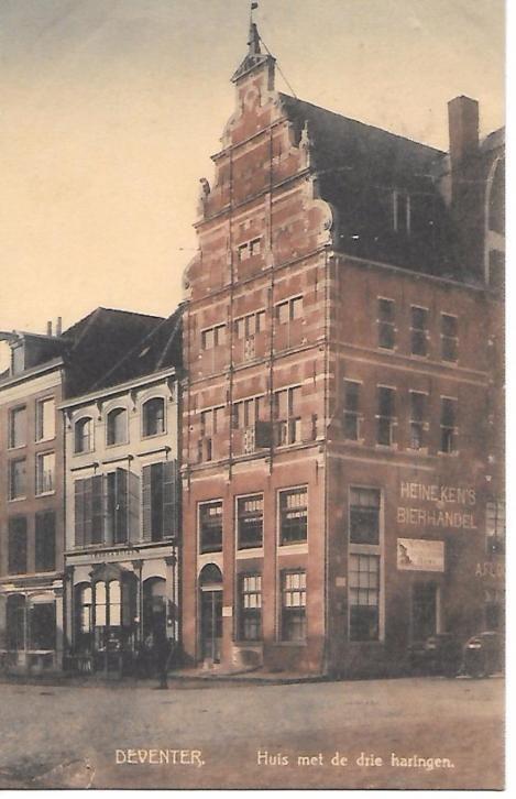 Deventer, huis met de drie haringen 1911. Bierhandel