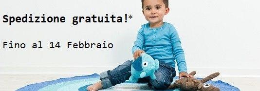 Spedizione gratuita fino al 14 Febbraio in tutta Italia nel web shop della Cameretta di Pippi - Design per bambini in Stile Nordico.