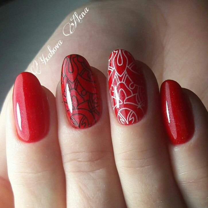 Натуральные ногти. Гель-лак. Штамп. Стэмпинг. Конад. Маникюр. Красота. Nail art. Natural nails. Konad. Stamping. Manicure. Beauty