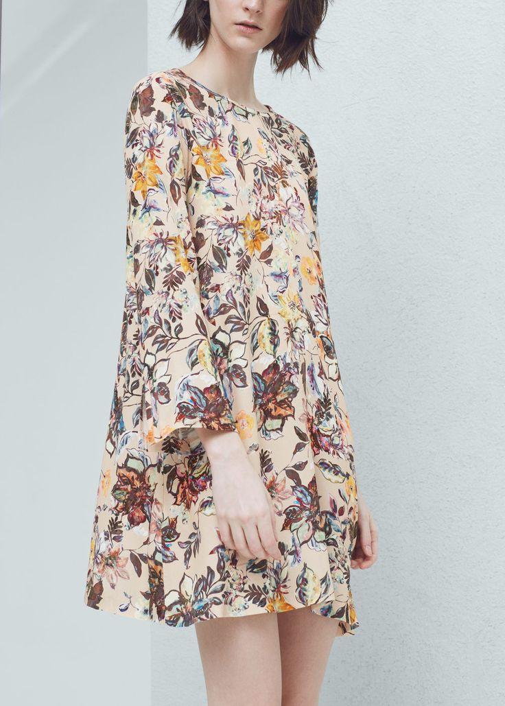 Floral-print flowy dress - Dresses for Women   MANGO