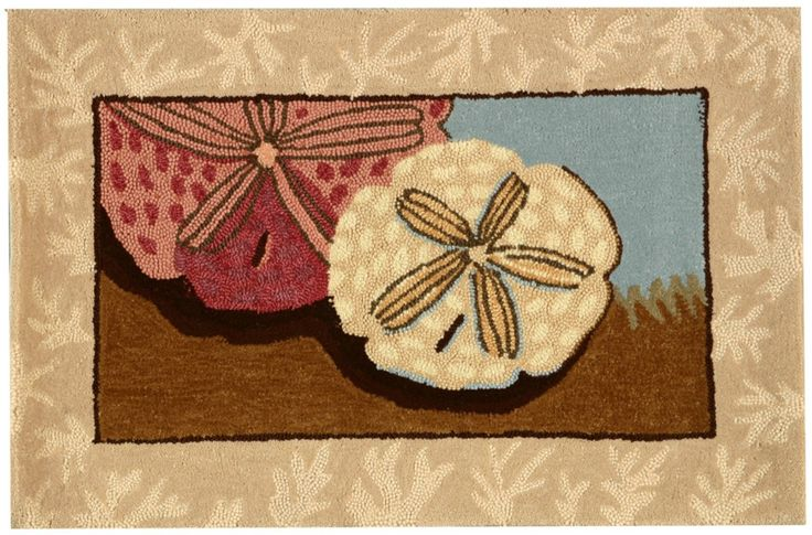 Greet your beach house friends with a new door mat - perfect colors for fall decorating!