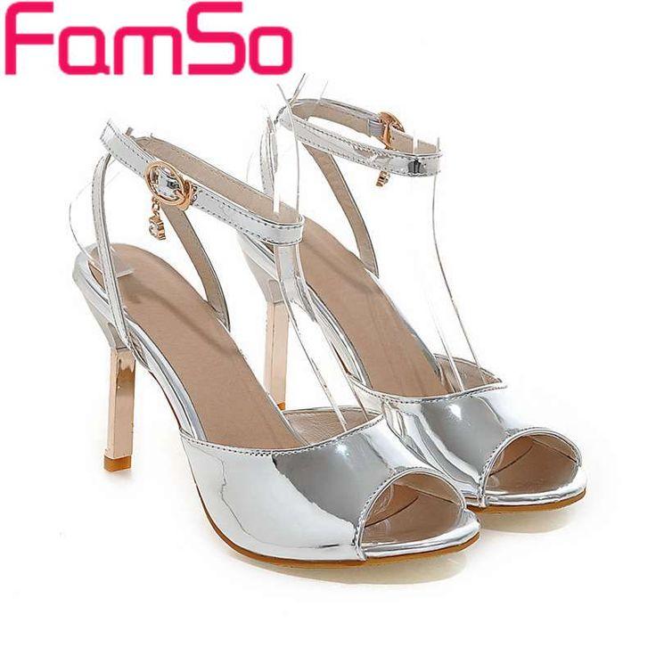 $40.00 (Buy here: https://alitems.com/g/1e8d114494ebda23ff8b16525dc3e8/?i=5&ulp=https%3A%2F%2Fwww.aliexpress.com%2Fitem%2FBig-Size34-43-2016-New-Shoes-Women-Sandals-Peep-toe-Gold-Silver-Pumps-Designer-Female-Party%2F32655890155.html ) Big Size34-43 2016 New Shoes Women Sandals Peep toe Gold Silver Pumps Designer Female Party Shoes Summer  Party Sandals PS2273 for just $40.00