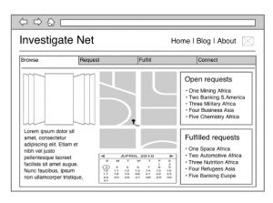 Example of Medium Fidelity Wireframe