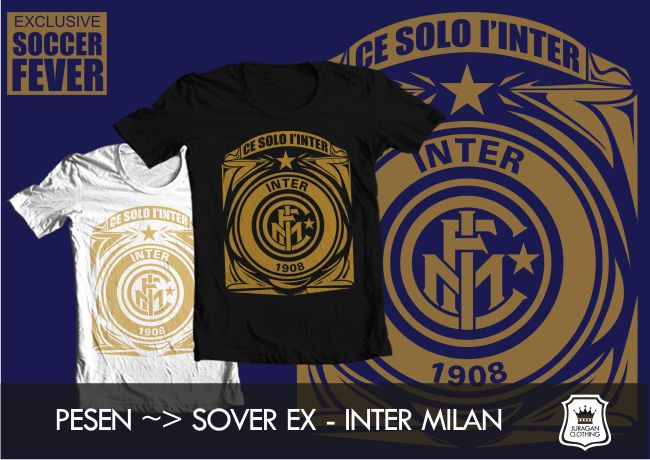 """Kaos INTER MILAN """"CE SOLO I'INTER 1908"""" [READY STOCK] #BolaBolatshirt"""