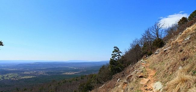 Mount Nebo Rim Trail on south side, near Sunrise Point (panoramic).