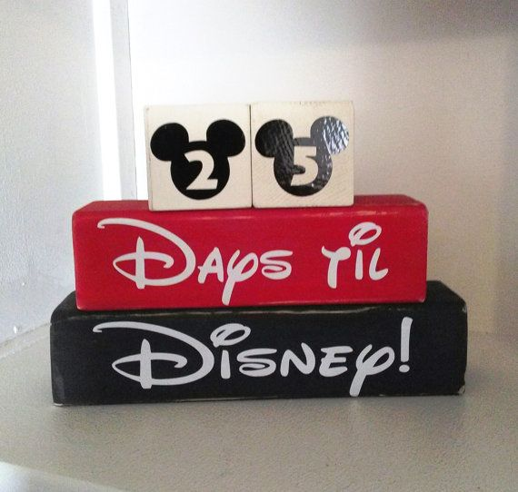 Disney Countdown Calender Wooden Blocks by CreativeVinylDecor