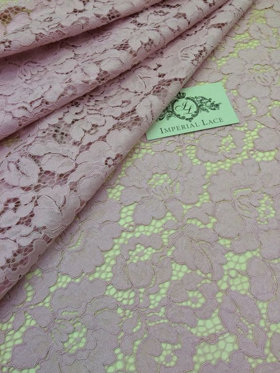 Old pink lace Fabric, French Lace, Embroidered lace, Wedding Lace, Bridal lace, Veil lace, Lingerie Lace Chantilly Lace