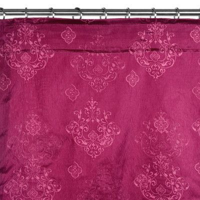 "MaduraUS Enigma Shower Curtain Color: Red Pink, Size: 111.4"" H x 57.09"" W"