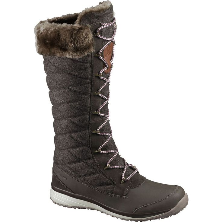 Salomon Hime High Winter Boot - Women's Absolute Brown-x/Absolute Brown-x/Light Grey -