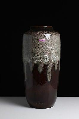 Vase Scheurich 70 er Jahre Ära Fat Lava Keramik 517 - 45 Laufglasur Bodenvase