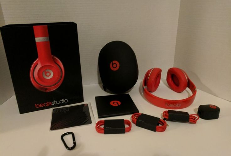 """Beats Studio By Dr. Dre  Red B0500 """"NEW"""" 2.0 WIred #BeatsbyDrDre"""