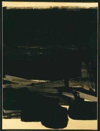 Pierre SOULAGES (né en 1919) Composition Noire, 1963