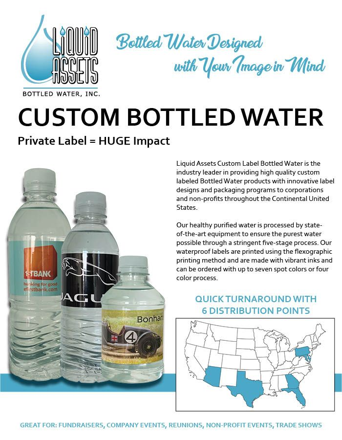 Bottled Waters From Liquid Assets Custom Labels Custom Water