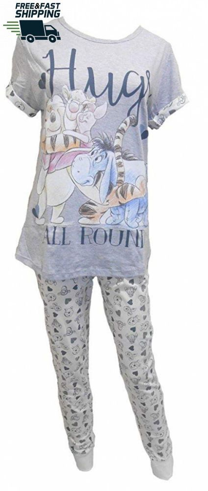 Disney Winnie the Pooh Hugs Ladies Pyjamas  fashion  clothing  shoes   accessories  womensclothing  intimatessleep  ad (ebay link) 7e406cae39