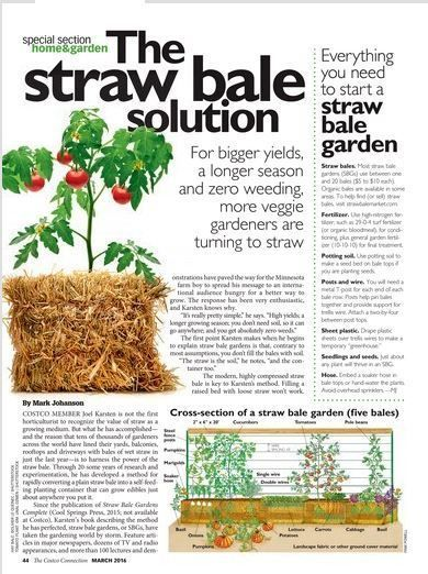 The Costco Connection - March 2016 | Straw Bale Gardening | Scoop.it