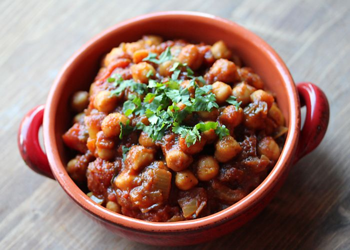 Love Indian takeout?  Try Chana Masala in the crock pot!  #crockpot #indianfood
