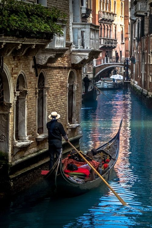 The Mystic of Venice | by Carlos Taborda | Website.  Melanie and I rode the gondola when we went to Italy.