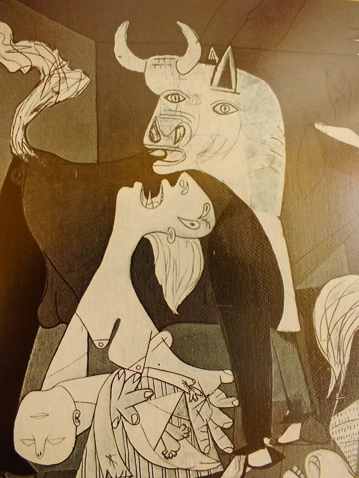 Picasso; Guernica (detail)