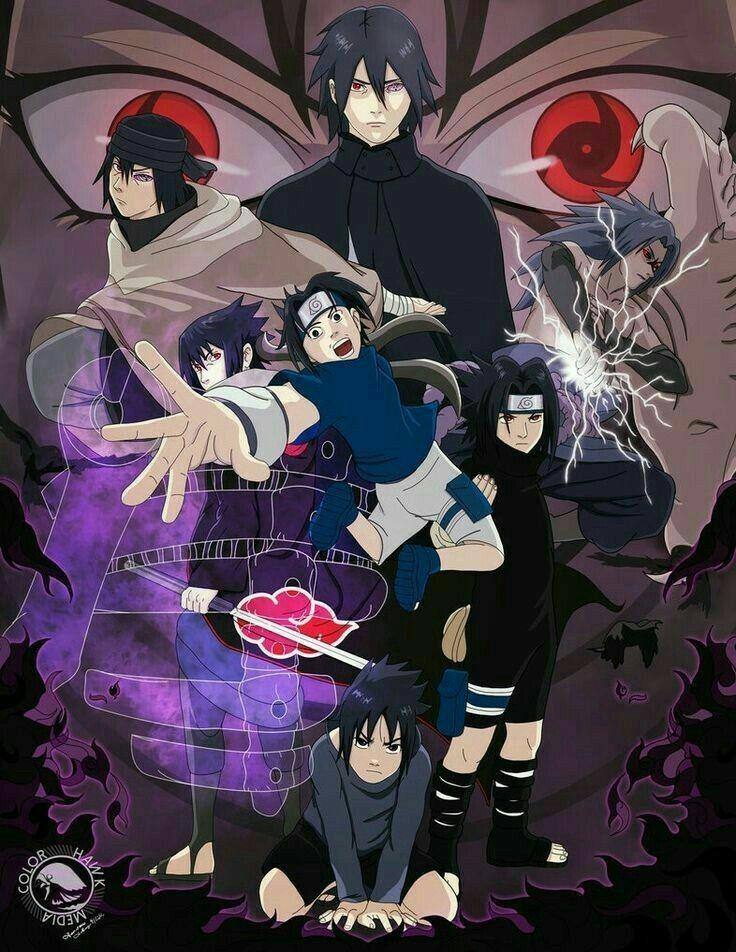 Uchiha Sasuke (Dengan gambar) Seni anime, Animasi