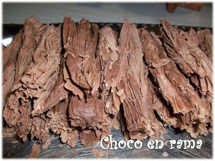 Chocolate en rama - paso a paso - Taringa! Recipe receta