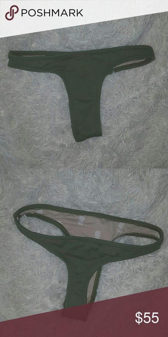 MIDORI WILD HEARTS BOTTOM worn once, perfect condition in the color olive  style not being sold anymore!  tagged under brand for views  LOOKING TO TRADE, if purchasing lmk before acacia swimwear Swim Bikinis