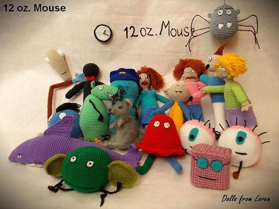 Set 12 oz. Mouse All Characters Crochet Toys by LorensDolls  #12ozMouse