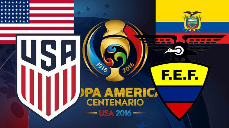 USA 2 Ecuador 1 in 2016 in Seattle. Excellent win for the USA over a pretty good Ecuador team in the Quarter Final of 2016 Copa America.