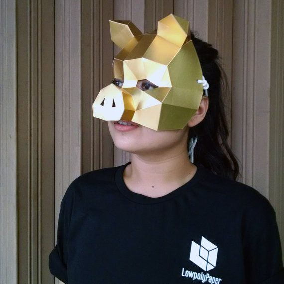 Pig Mask - PDF 3D Papercraft Templates