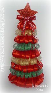 """Cards en Scrap Challengeblog: Workshop 65 """"Kerstboom van lint"""""""