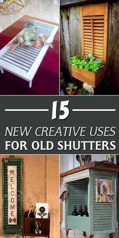 Check out these creative ways to repurpose old shutters.